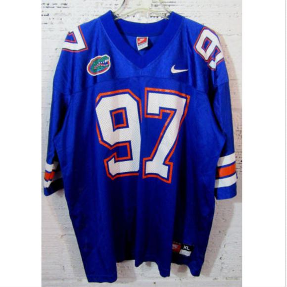 reputable site c105e b51e0 Florida Gators Blue Football Nike Jersey